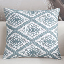 Scandinavian embroidery cushion cover - teal - Diamond - Indimode