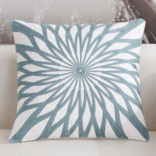 Scandinavian embroidery cushion cover - teal - Star - Indimode