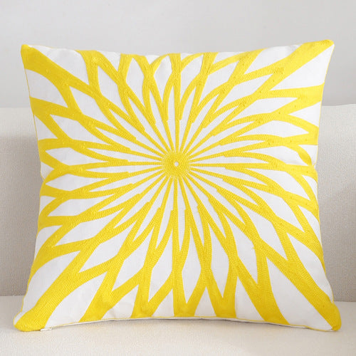 Scandinavian embroidery cushion cover - yellow - Star - Indimode