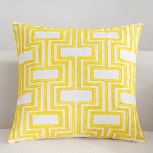Scandinavian embroidery cushion cover - yellow - Geometrical - Indimode