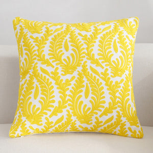 Scandinavian embroidery cushion cover - yellow - Floral - Indimode