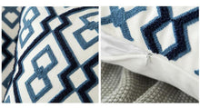 Scandinavian embroidery cushion cover - navy - Geometric - Indimode