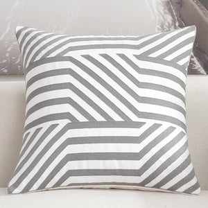 Scandinavian embroidery cushion cover - grey - Zebra - Indimode