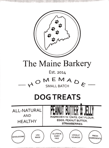 Peanut Butter & Jelly Dog Treats
