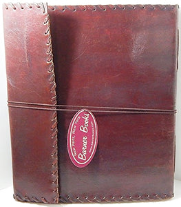 "10"" x 12"" Lace Edge Retro Leather Bound Sketchbook/Journal"