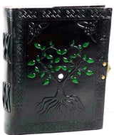 "Leather Hand painted Tree of Life Journal 6"" x 8"""