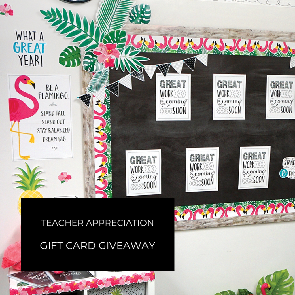 Teacher Appreciation Gift Card Giveawy