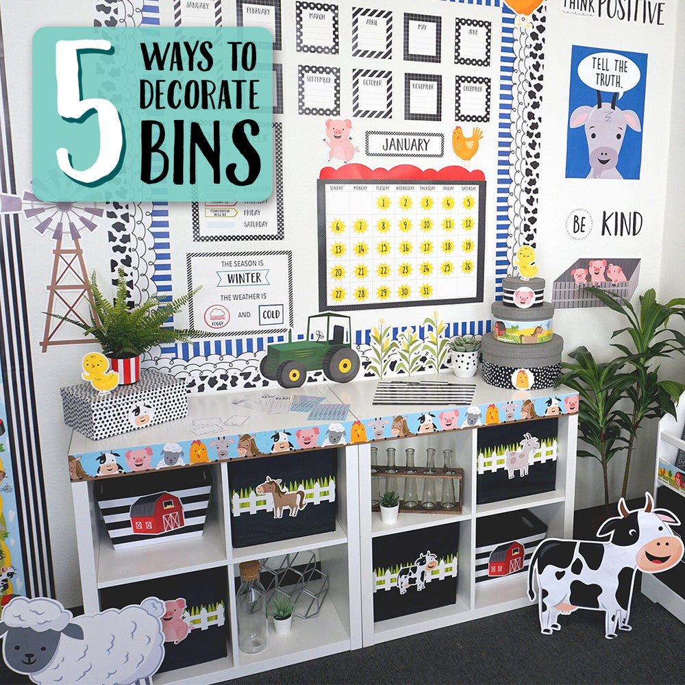 5 Ways for Decorating Bins