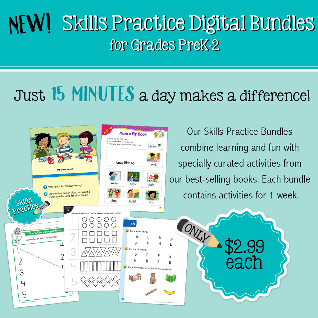 Skills Practice for PreK to 2nd Grade