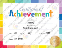 painted palette certificate of achievement large award template