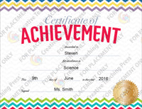 chevron certificate of achievement large award template