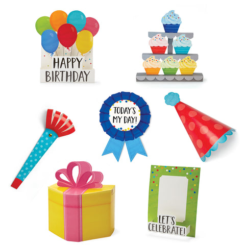 3D pop birthday bulletin board
