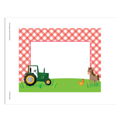 farm friends gingham frame