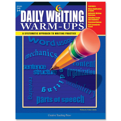 daily writing warm ups grade 3 through 4