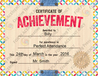 upcycle style certificate of achievement large award template