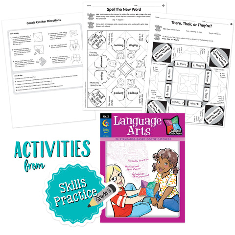 cootie catchers language arts workbook