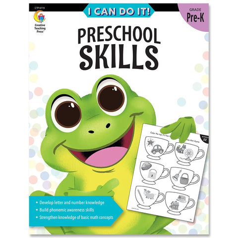 I can do It! workbook preschool skills