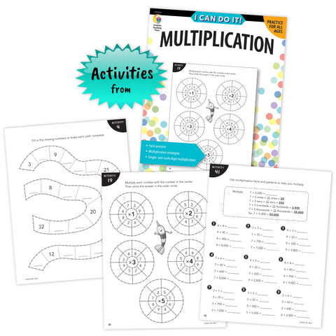 i can do it multiplication book