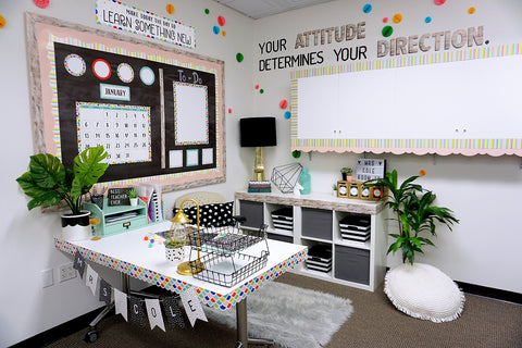 color pop teacher desk
