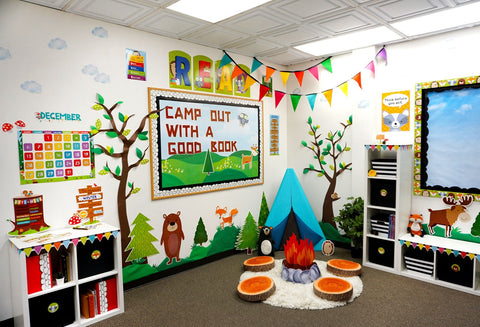 woodland friends classroom reading corner