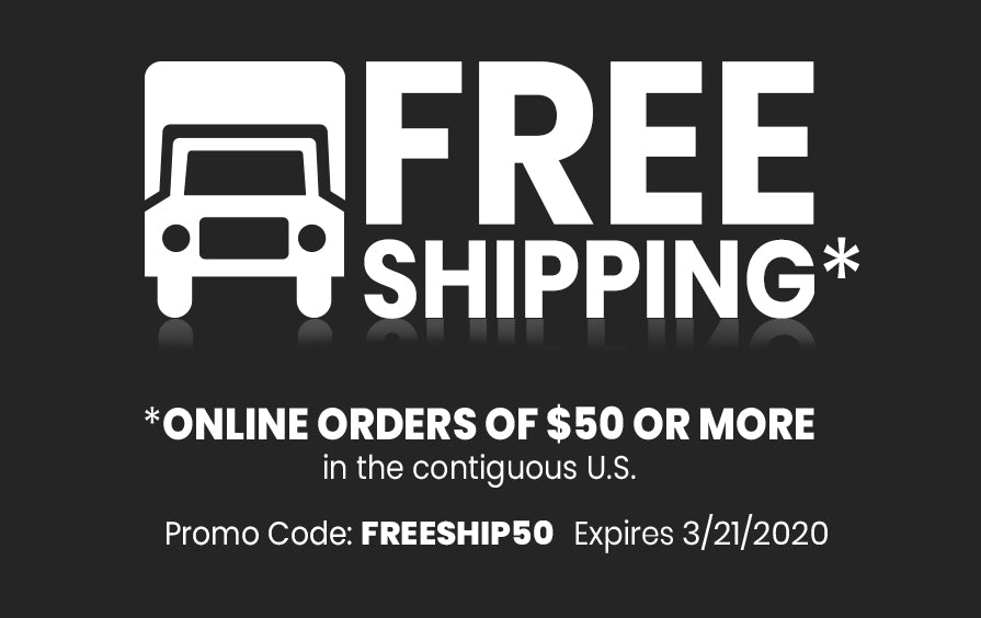 Free Shipping on all US orders through 9/30