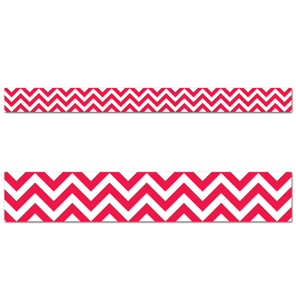 Poppy Red Chevron Border