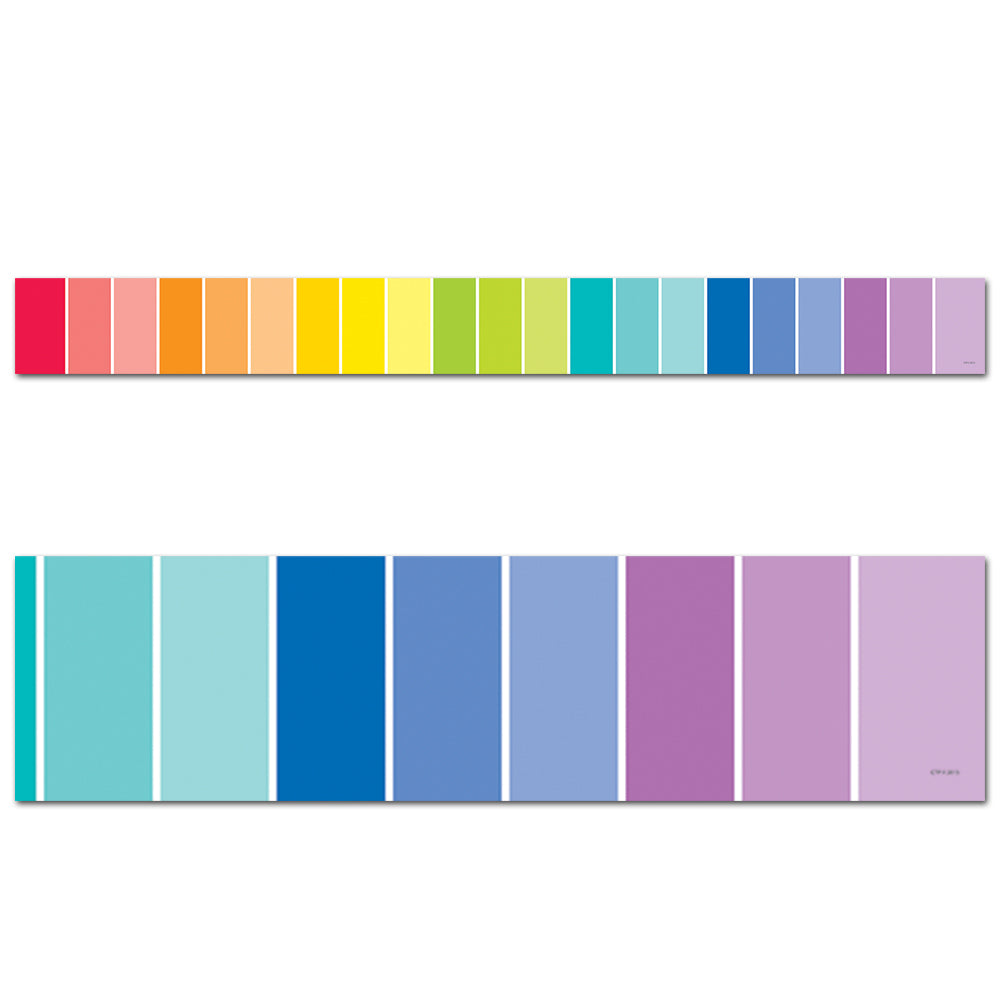 Painted Palette Rainbow Paint Chip Border