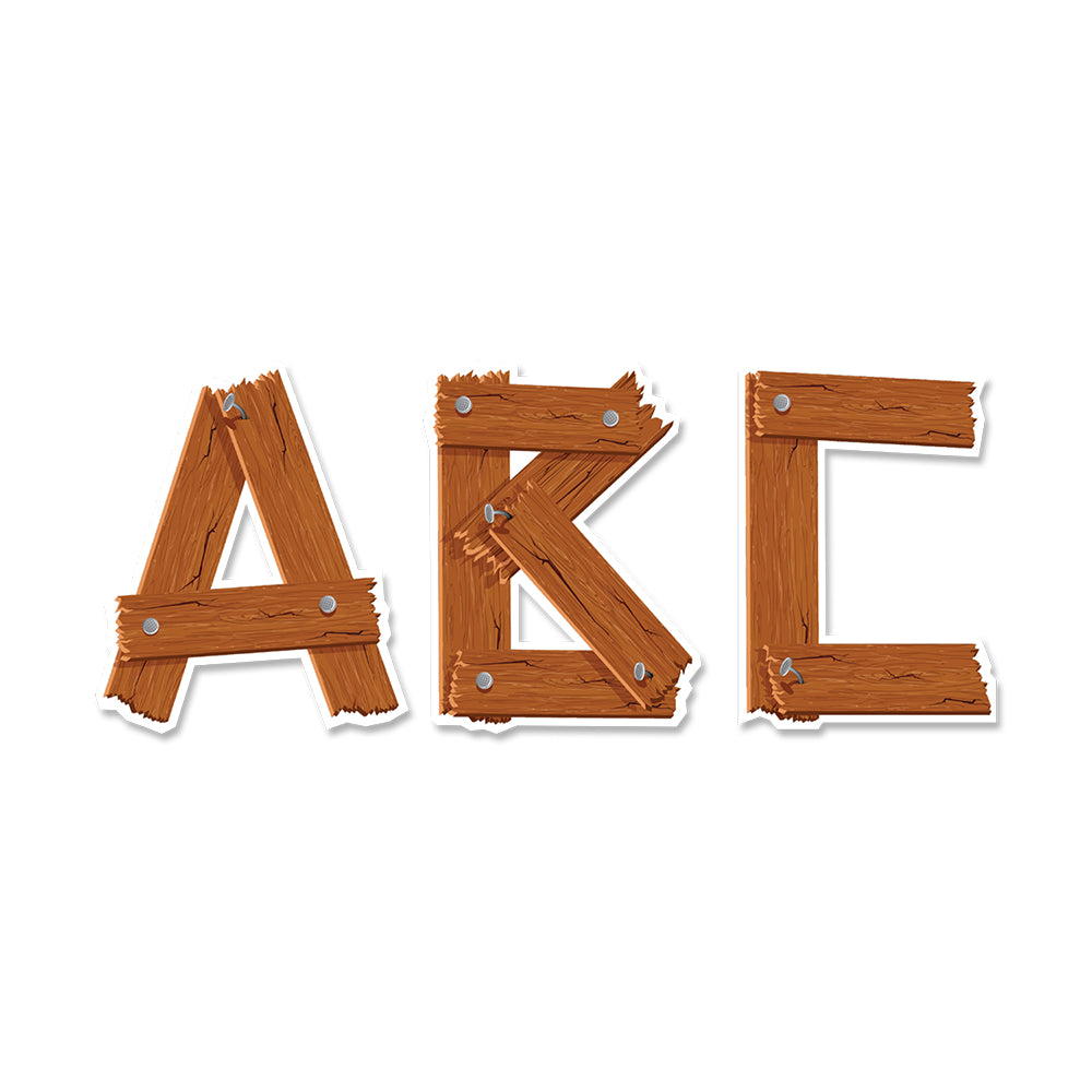 "Timber 5"" Uppercase Designer Letters"