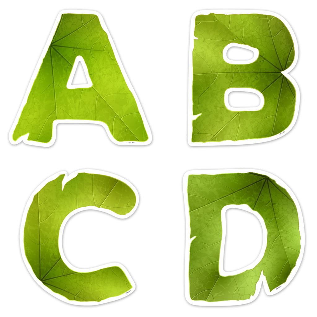 "Leaves 5"" Uppercase Designer Letters"