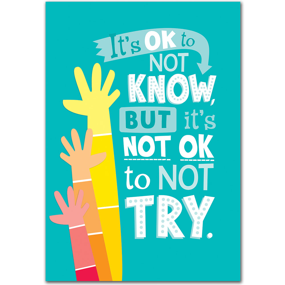 It's OK to Not Know... Inspire U Poster