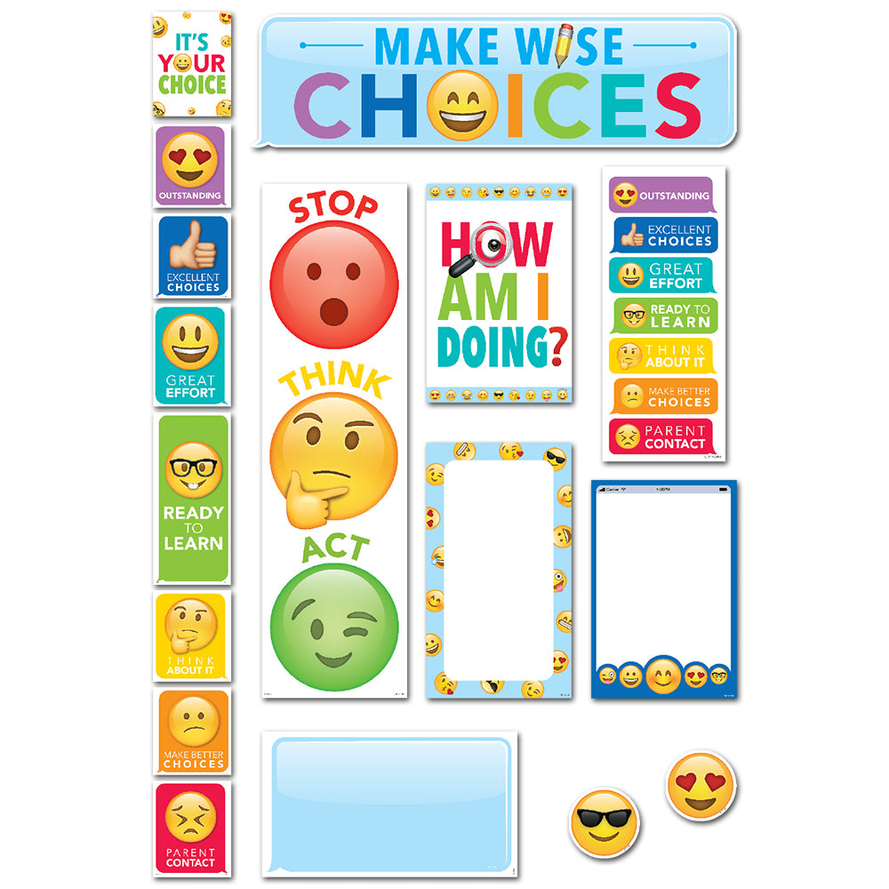 Emoji Fun Behavior Clip Chart Mini Bulletin Board