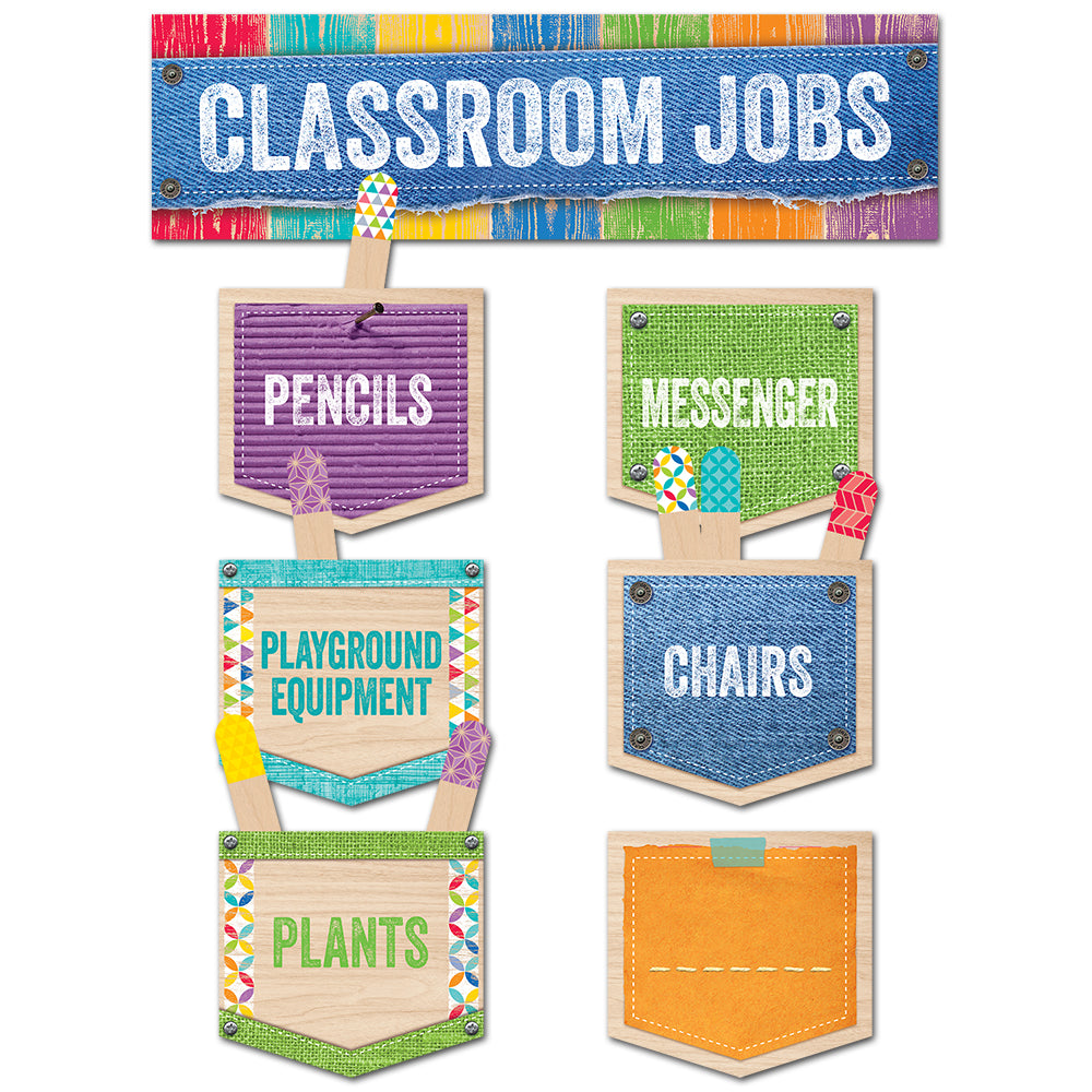 Upcycle Style Classroom Jobs Mini Bulletin Board