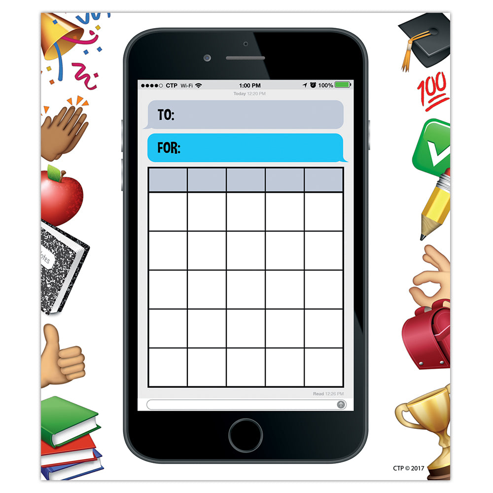 Emoji Fun Smart Phone Fun Student Incentive Charts