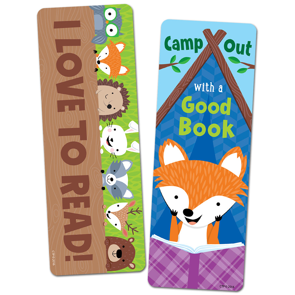 Camp Out With A Good Book Bookmark