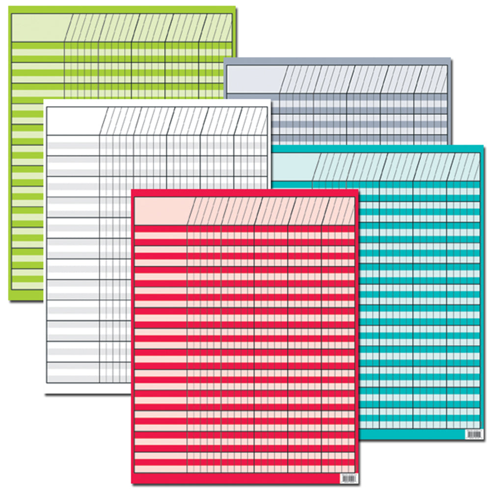 Bright Colors Incentive 5-Chart Pack