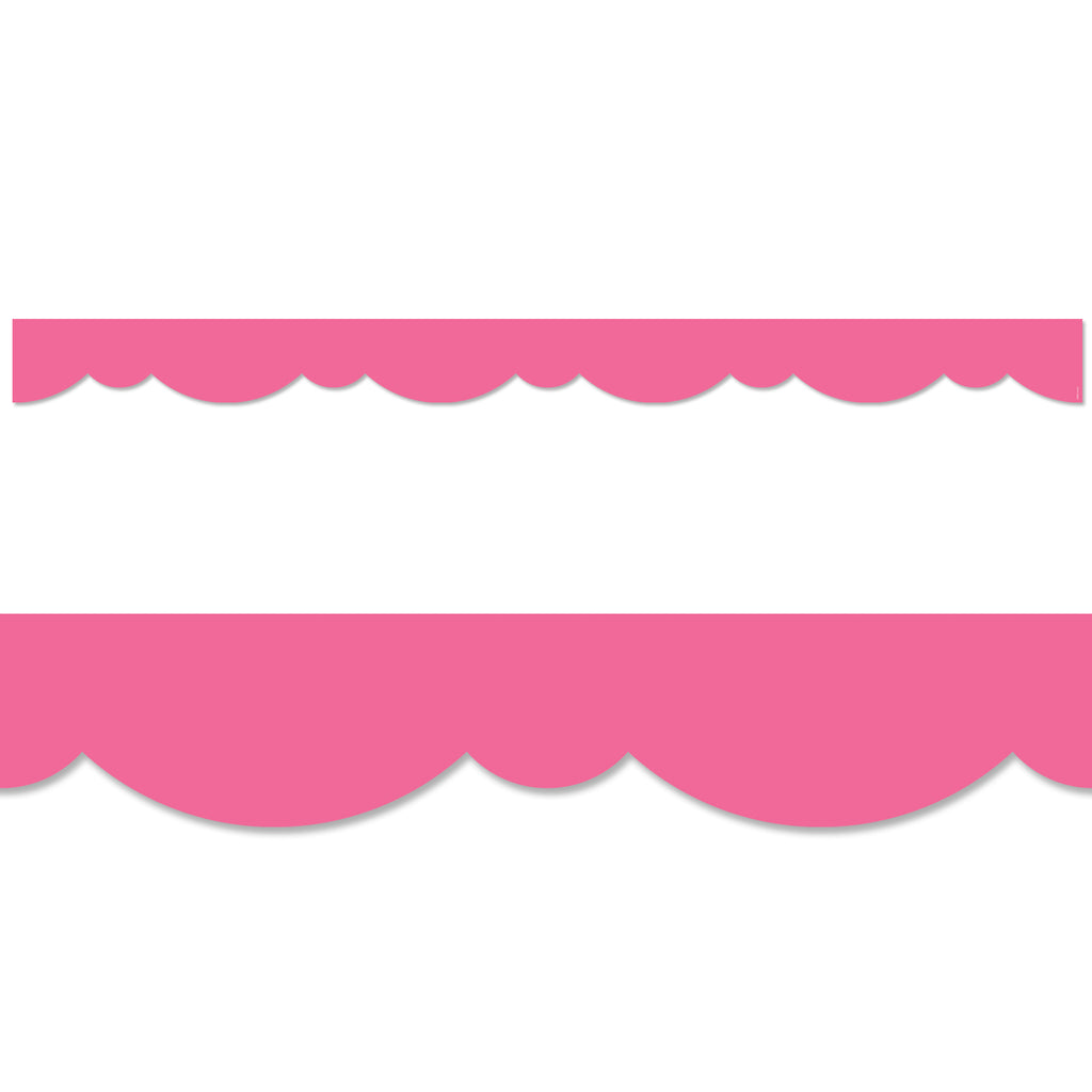 Pink Stylish Scallops Border