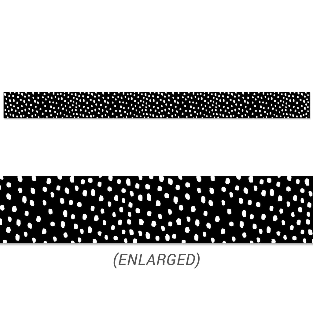 Messy Dots on Black Border