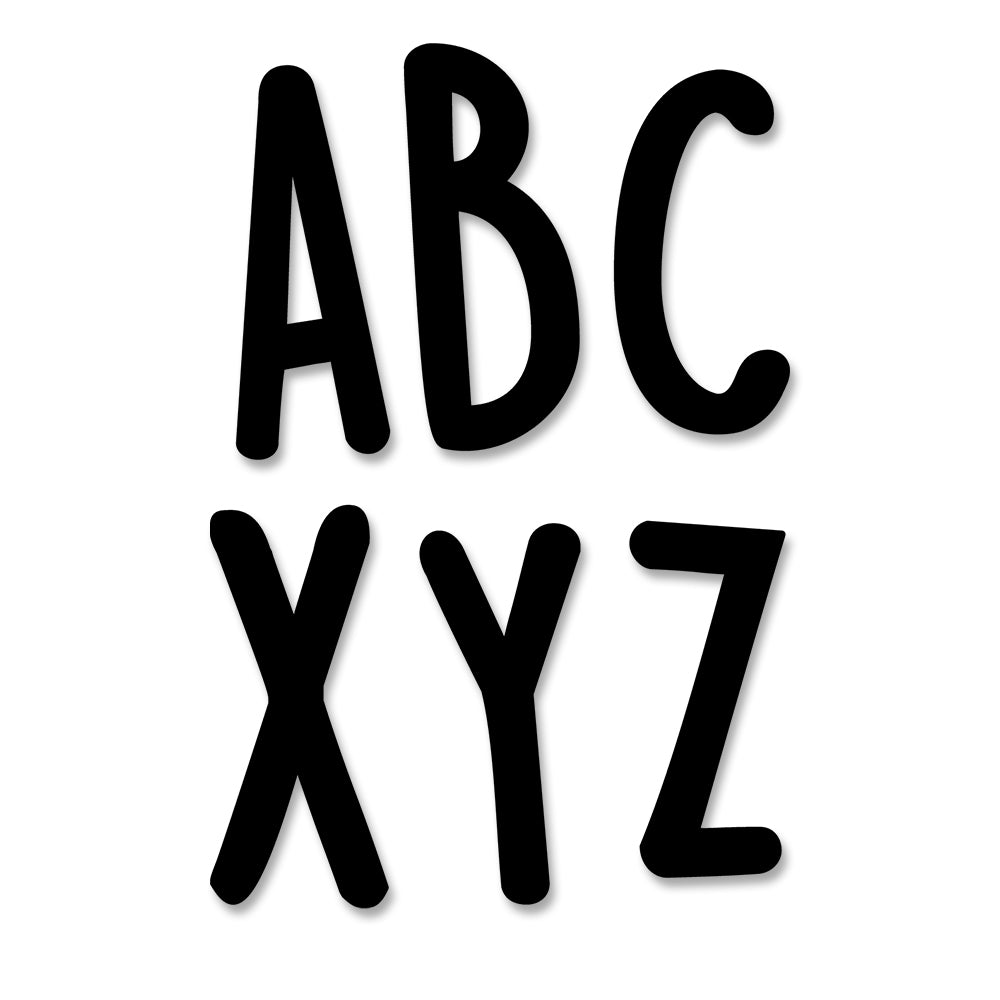 Casual Black 2 Inch Uppercase Letter Stickers