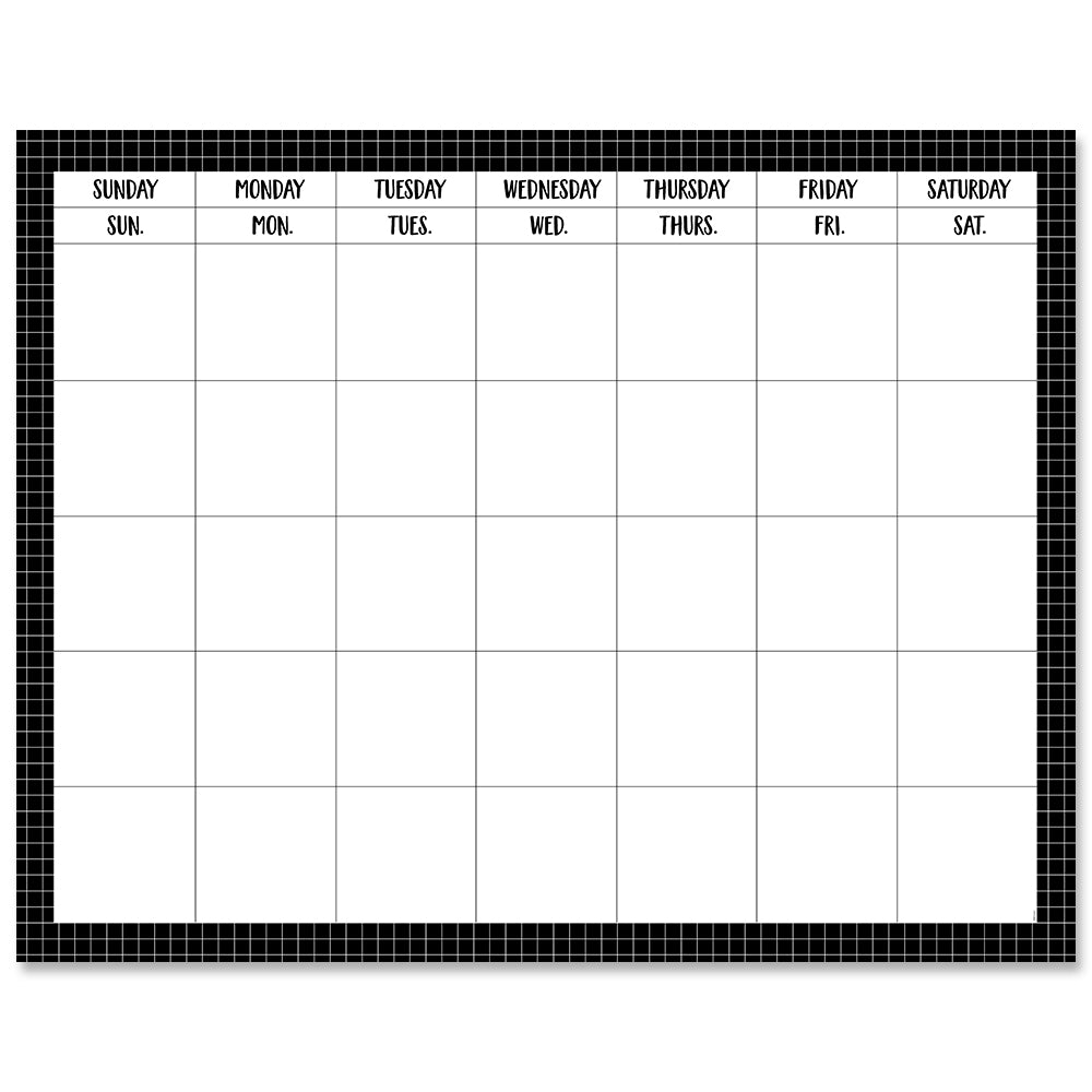 Window Pane on Black Calendar Chart