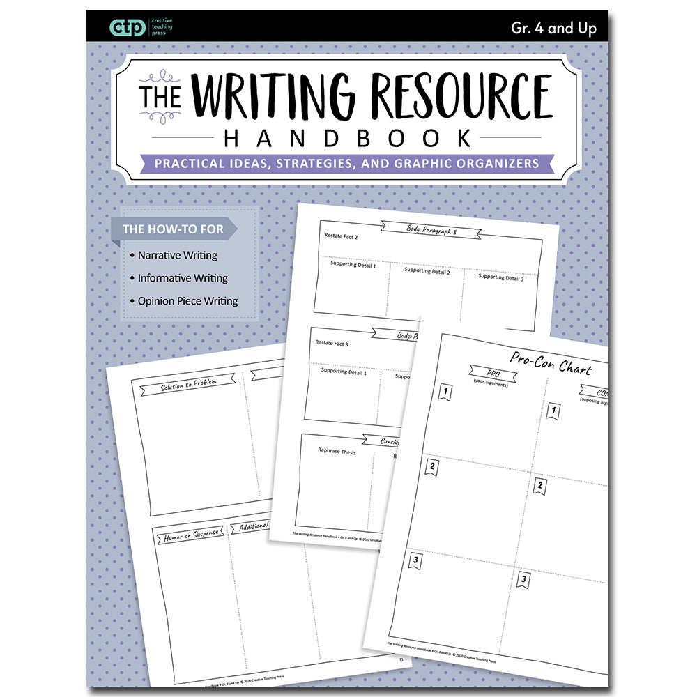 Writing Resource Handbook (Print) Grade. 4 and Up