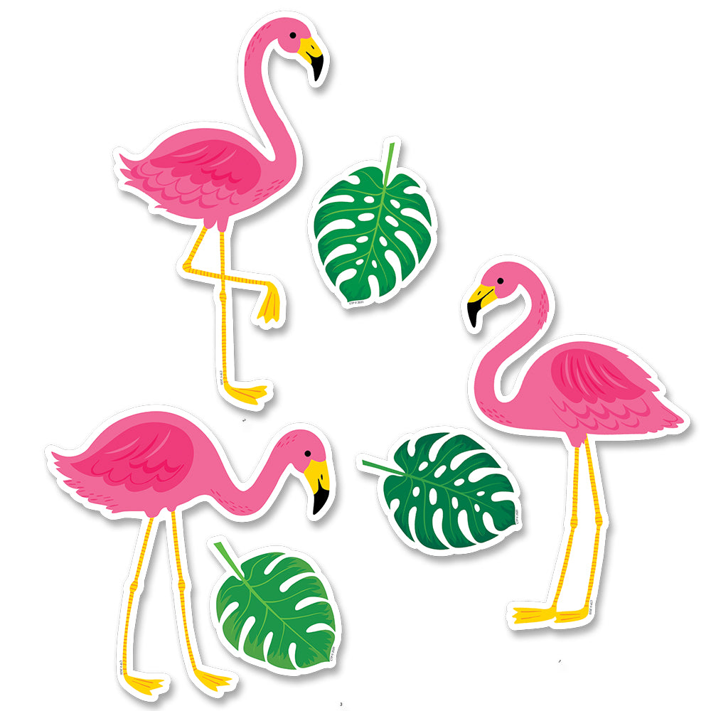 Palm Paradise Flamingo Fun 6 Inch Designer Cut-Outs