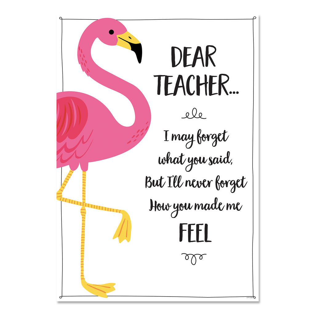 Palm Paradise Dear Teacher Inspire U Poster Free Download