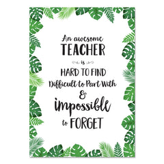 Palm Paradise Awesome Teacher Inspire U Poster Free Download