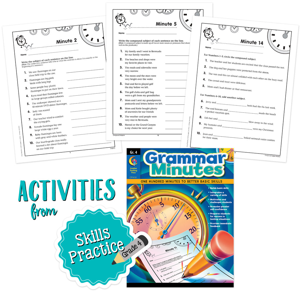 4th Grade Skills Grammar Minutes Bundle