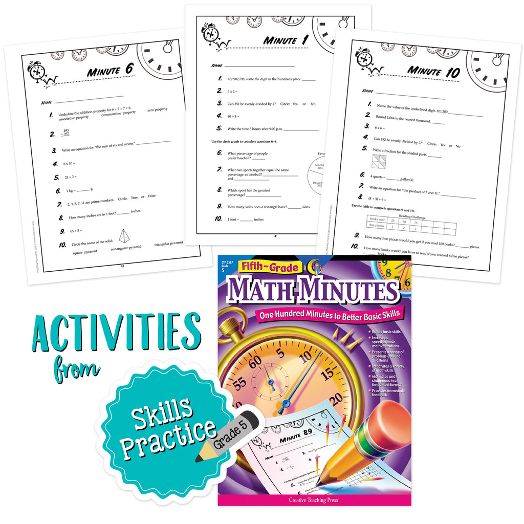 5th Grade Skills Math Minutes Bundle