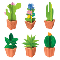3D Pop Potted Plants Bulletin Board