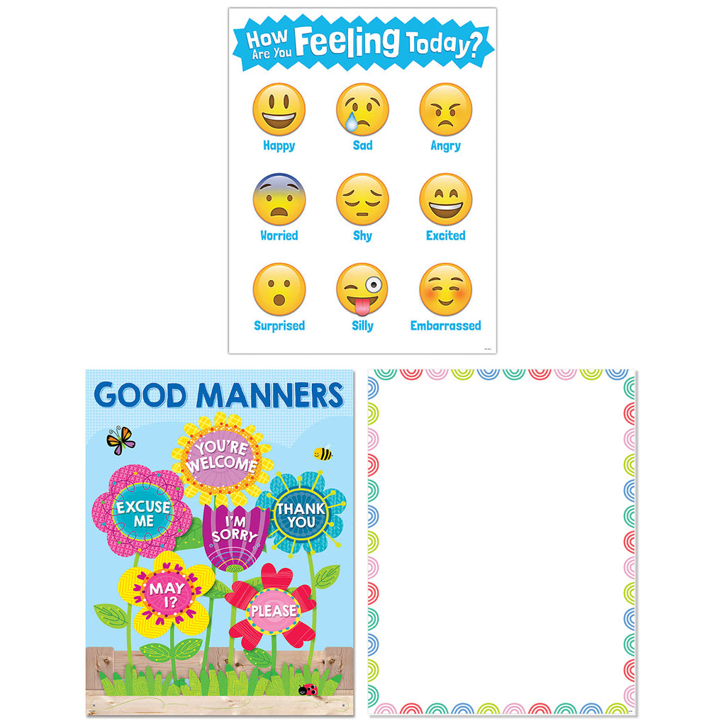 Feelings and Manners 3-Chart Convenience Pack