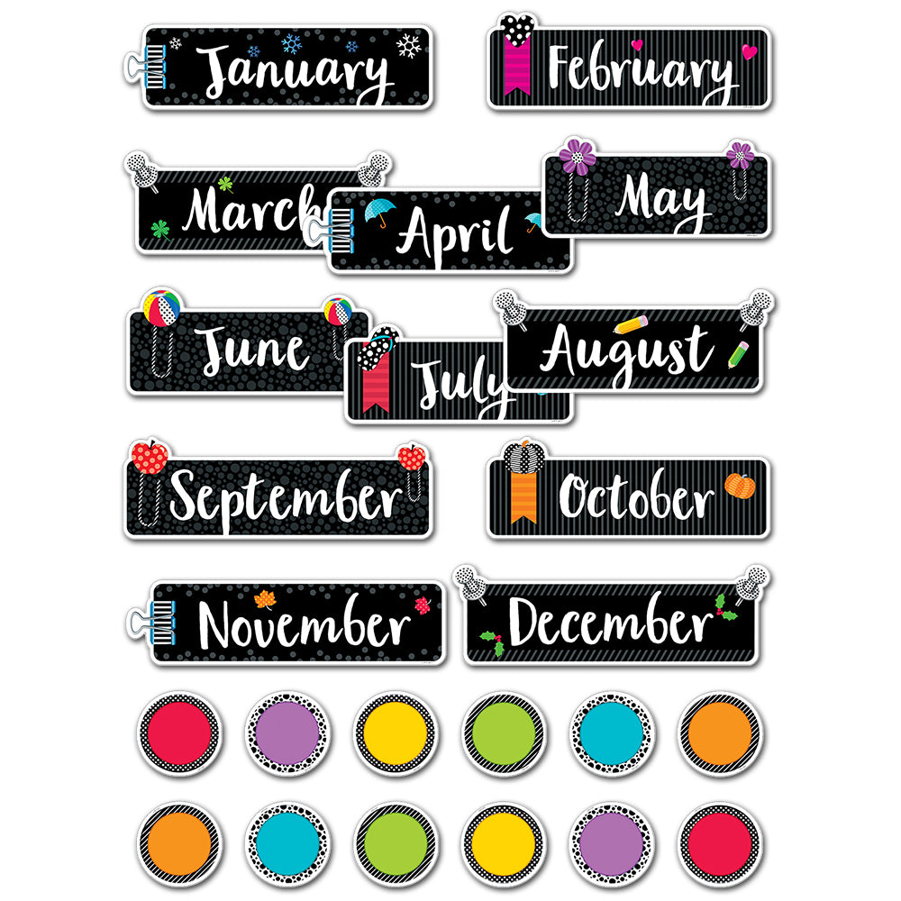 Bold & Bright Months of the Year Mini Bulletin Board