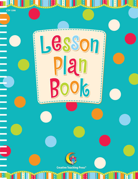 Dots on Turquoise Lesson Plan Book, Open eBook