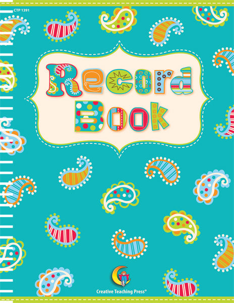 Dots on Turquoise Record Book, Open eBook